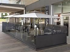 gazebo esterno per bar paravento per dehors in alluminio e vetro dehors cagis