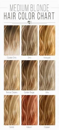 Hair Color Chart The Shades Kissed By The Sun