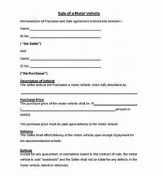 Auto Purchase And Sale Agreement Free 6 Sample Auto Purchase Agreement Templates In Pdf