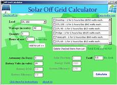 Solar Inverter Sizing Chart Solar Offgrid Calculator Download Sourceforge Net