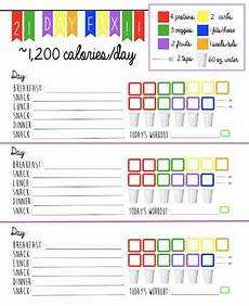Meal Tracking Worksheet 21 Day Fix Logging System Tracking Sheet Beach Body 1 200