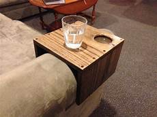 Sofa Arm Cup Holder 3d Image by Solid Oak Arm Wrap With Cup Holder By