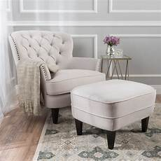 accent chair ottoman noble house torrin modern contemporary tufted fabric