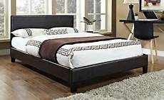 4ft6 faux leather bed frame 3ft single 5ft king