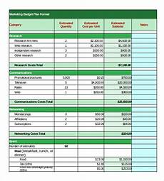 Budget Formats Template 17 Marketing Budget Templates Free Sample Example