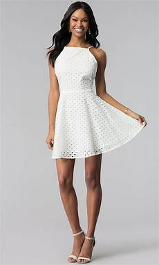 eyelet lace graduation dress promgirl