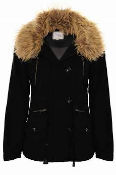 winter fur coats for ulla faux fur trim lined warm winter s parka