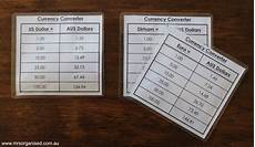 Currency Converter Chart How To Create A Currency Converter To Use When Travelling