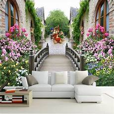 Sofa Bed For Bedroom 3d Image by 3d Stereoscopic Tv Backdrop Mural Wallpaper For Living