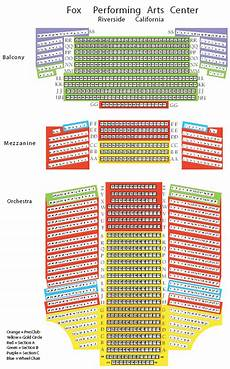 Fox Theater Detailed Seating Chart Fox Performing Arts Center Seating Chart Theatre In La