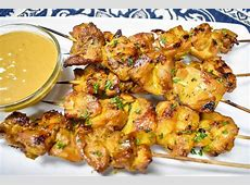 Chicken Satay with Peanut Sauce   Cook2eatwell