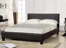 bed black faux leather and luxury mattress 24hr