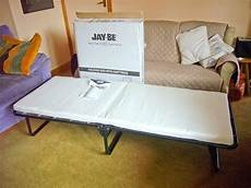 jaybe folding guest bed single with memory foam mattress