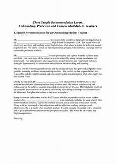 High School Letter Of Recommendation Template High School Student Recommendation Letter Templates At