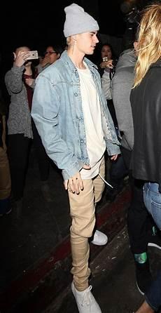 Justin Bieber Light Blue Jeans Justin Bieber In A Denim Jacket Blue Jeans Outfit Men