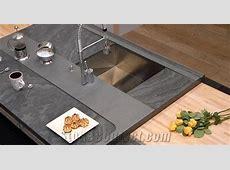 Brazil Grey Slate Kitchen Countertop   StoneContact.com