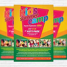 Kids Flyers Kids Summer Camp Premium Flyer Template Facebook Cover