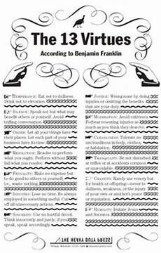 Benjamin Franklin Virtues Chart Mind On Pinterest 27 Pins