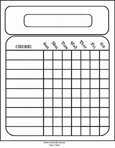 Blank Chore Chart Free Blank Chore Charts Templates Printables For The