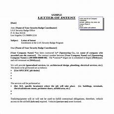 Letter Of Intent Sample Job Free 9 Letter Of Intent For A Job In Pdf Ms Word