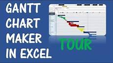 Ranking Chart Maker Gantt Chart Maker Excel Template V1 Tour Youtube