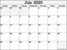 2020 Blank Calendar Pdf July 2020 Calendar Free Printable Monthly Calendars