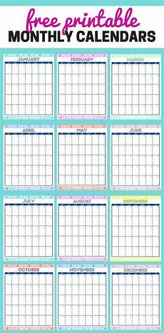 Free Monthly Printable Calendar Cute Free Printable Monthly Calendars Organizing