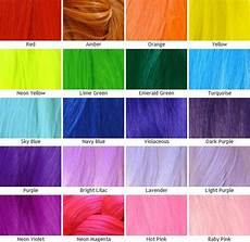 Hair Dye Colour Chart Kanekalon Silky Straight Color Chart Unnatural Colors