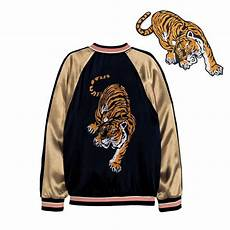 patches for clothes 34 18 cm embroidered clothing big tiger patches for