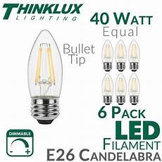 Light Bulb B10 Vs B11 40 Watt Equal Led Filament Candelabra Light Bulb B11