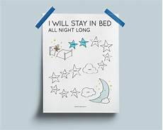 Stay In Bed Chart Printable Printable Toddler Sleep Chart Instant Download I Will