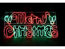 Rope Light Christmas Signs Led Rope Light Merry Christmas Sign 177354 Christmas