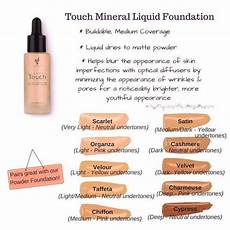 Ricci Foundation Colour Chart Liquid Mineral Foundation Color Chart Younique Touch
