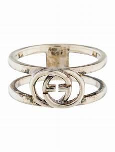 Interlocking Ring Gucci Wide Interlocking G Ring Rings Guc164577 The