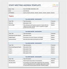 Agenda Template Word 2013 Agenda Outline Template 10 For Word Excel Pdf Format