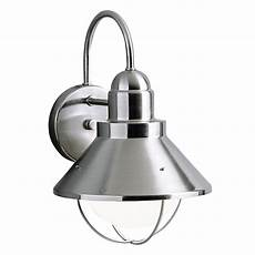 Kichler Outdoor Wall Light Kichler Outdoor Wall Light In Brushed Nickel Finish