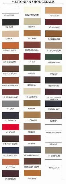 Saphir Shoe Cream Color Chart Meltonian Shoe Cream Polish