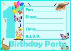 Birthday Invitations For Boy Free Printable First Birthday Invitations For Boy Free