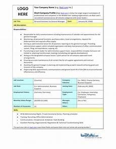 Personal Description Personal Assistant Job Description Template By Bayt Com