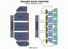 Sf Playhouse Seating Chart Golden Gate Theatre San Francisco Tickets Schedule