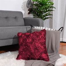 Sofa Decor Pillows 3d Image 3d satin flower throw pillow cover shells floral