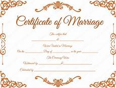 Fake Certificates To Print Traditional Corner Marriage Certificate Template Dotxes