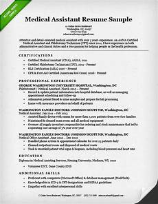 Resume For Medical Assistant Job Medical Assistant Resume Sample Amp Writing Guide Resume