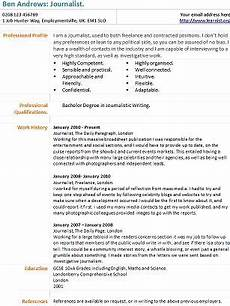Journalism Cv Example Cv Templates Page 7 Of 16 Learnist Org