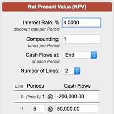 Net Present Value Calculator Net Present Value Calculator