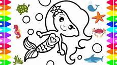 mermaid coloring how to draw a mermaid easy for