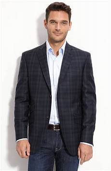 sports coats for big and baker ted baker jim navy plaid wool sportcoat in blue for
