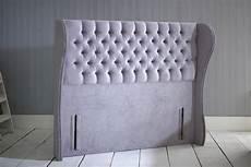 giovana chesterfield wing floor standing headboard bedworld