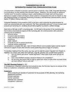 Integrated Marketing Communications Examples 10 Integrated Marketing Plan Examples Pdf Examples