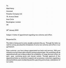 Sample Appointment Letter Download Free 11 Appointment Letter Templates In Google Docs Ms